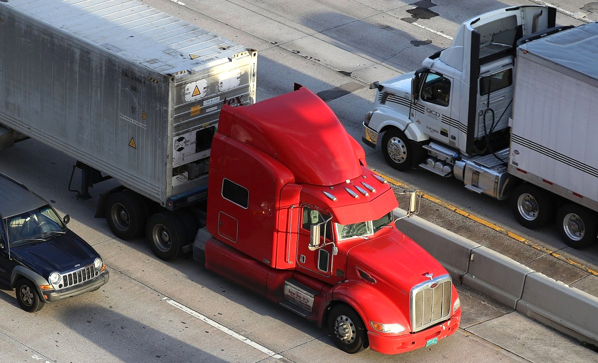 Heavy Trucking Vehicles on Highway